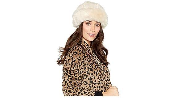 5990de3b636 Rjr.John Rocha Cream Suedette Faux Fur Lined Cossack Hat  RJR.John Rocha   Amazon.co.uk  Clothing