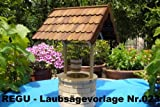 REGU Laubsägevorlage Brunnen - ländlicher Stil Nr. 023