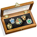 Hogwarts House Pin - Five pin in vetrina. Harry Potter Noble Collection