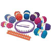 CRA-Z-ART Shimmer'n Sparkle Kit para Tejer Punto y 8 ovillos de Lana (ColorBaby 44092)