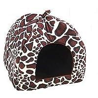 Comparador de precios Westeng Cama para Mascotas Diseño de Patrón de Leopardo Cama de Perro De Sofa Perro Gato Suave y Acogedor Perro Mascota Nido Cálido Nido Mascota Algodón Size L (Leopard Print L) - precios baratos