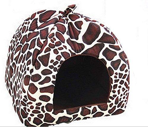 Westeng Cama Mascotas Diseño Patrón Leopardo Cama