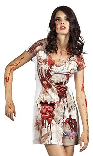 Zombie Kleid, Kostüm, Halloween, Karneval, Mehrfarbig, Größe L (Walking Dead Zombie Mädchen Halloween-geist)