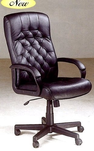 Classic Leather Executive CEO Office Swivel Chair in Black Leather Match by Acme Furniture
