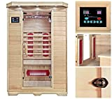 Home Deluxe Infrarotsauna | Redsun M | Keramikstrahler | inkl. Vielen Extras und komplettem Zubehör | Verschiedene Varianten