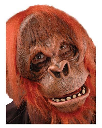 Horror-Shop Orang Utan Maske Deluxe mit Kunstfell Super-deluxe-halloween-maske
