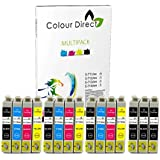 15 XL ColourDirect Cartouche D'encres Pour EPSON STYLUS S20, SX100, SX105, SX110, SX115, SX200, SX205, SX210, SX215, SX218, SX400, SX405, SX410, SX415, SX515W, SX600FW, SX610FW, BX300F, S21, SX110, SX115, SX215, SX410, SX415, SX515W, SX209, SX405 WiFi, D78, D92, D120, DX4000, DX4050, DX4400, DX4450, DX5000, DX5050, DX6000, DX6050, DX7450. DX8450, DX7000F, DX7400, DX8400 imprimeur