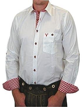 Trachtenhemd Klaus mit Krempelärmel und Kontrasten in verschiedenen Ausführungen