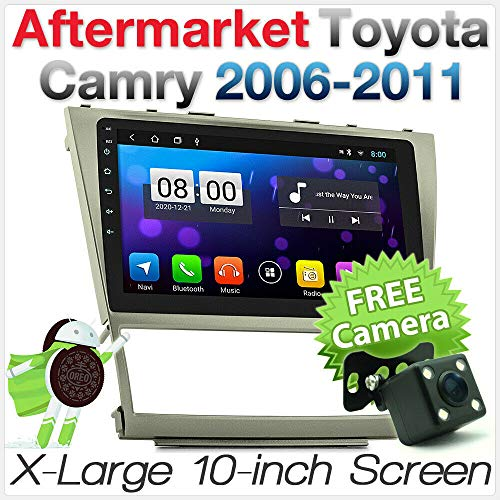 tunez 25,4 cm (10 Zoll) MirrorLink Android 8.1 Auto MP3 USB SD Player für Aftermarket Toyota Camry XV40 2006 2007 2008 2009 2010 2011 MP4 GPS Stereo Radio 1080p DAB+ Digital Radio FHD 2007 Aftermarket-stereo