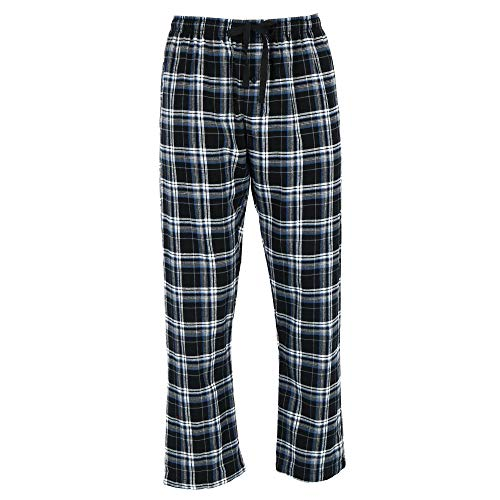 Hanes Herren Flanell Pyjama Lounge Pants Gr. XXL, Black Plaid -
