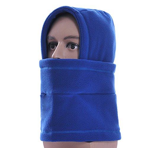 Sturmhaube Multifunktions Balaklavas volles Gesicht Maske Hüte Hals wärmer draußen Wintersport Snowboard Beweis (Blue) (Blue Aviator Hut)