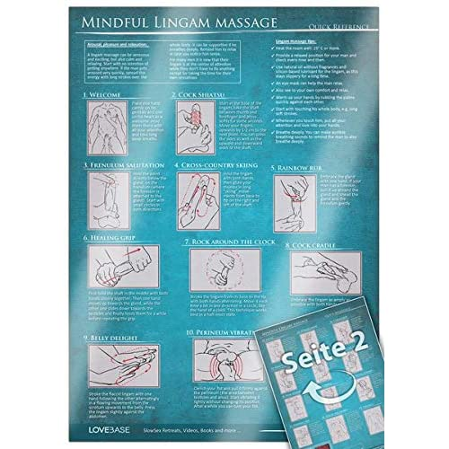 Mindful Lingam Massage Quick Reference: [DIN A4 - 2 pages, laminated] erotic, tantric massage for couples