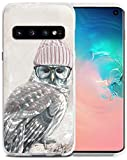 S10 Hülle Schaf - Hülle für S10 - CCLOT Flexible Gummi Ersatz Abdeckung kompatibel für Samsung Galaxy S10 2018 Creative Sheep and The Flower Art (Slim Flexible TPU Schutzhülle Silikon), Owl Creative