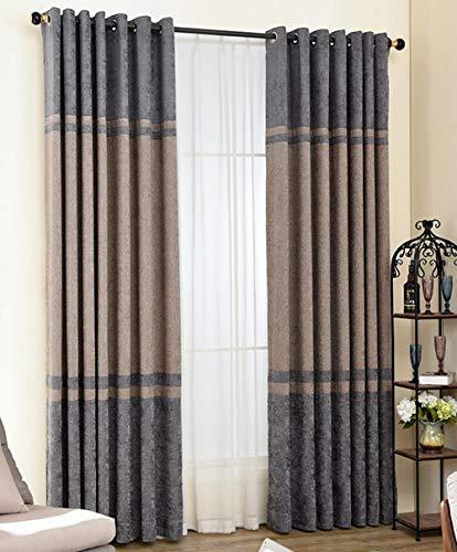 AISHUAIGE Blackout Vorhänge Moderne minimalistische Ring Top voll ausgekleidet Paar Öse Vorhänge, 2 Panels, 2.8 * 2.5m -