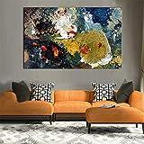 Geiqianjiumai Nouvelle Couleur rêve Abstrait Toile Impression Haute qualité Art Peinture Murale Affiche Photo décoration de la Maison sans Cadre Peinture 20x30 cm