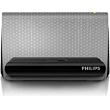 Philips SBA1710 - Altavoz portátil de 4 W (soporte para teléfono, 3.5 mm), gris
