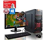 ADMI GAMING PC PACKAGE: Versatile Desktop Computer, 21.5 Inch 1080p Monitor, Keyboard, Mouse and Gaming HeadSet (PC SPEC: AMD Kaveri A8-7650K 3.8GHz Radeon R7 Quad Core APU Processor, USB 3.0, 500W PSU, 1TB Hard Drive, 8GB RAM, 24 x DVDRW Drive, Wifi, Red Devil Gaming Case, Pre-Installed with Windows 10 Operating System)