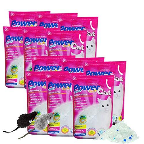 12x5= 60 lit. L Power Cat Magic Silikat Katzenstreu Powercat Streu