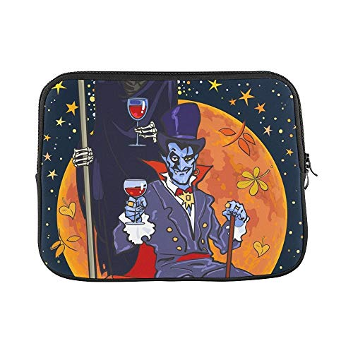 Tasche Blut Kostüm - JOCHUAN Design Benutzerdefinierte Todesskelett Dracula Vampire Auf Volle Hülse Weiche Laptop Tasche Haut Für MacBook Air 11