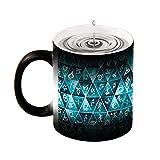 Tazza magica termosensibile Shadowhunters Runes mosaico cambia colore tazza da caffè, 325 ml