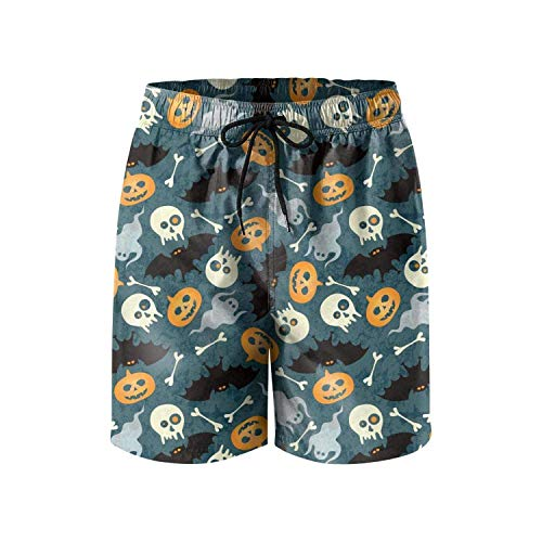 Patterned Blue Halloween Mexican Skeleton Fashion Man's Short Beach Shorts,Shorts Size XXL