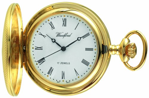 woodford-mechanical-half-hunter-pocket-watch-1056-mens-gold-plated-engine-turned-finish-with-chain-s
