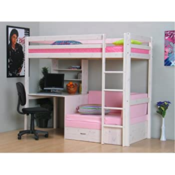 thuka hochbett 90x200 kiefer massiv bett kinderbett. Black Bedroom Furniture Sets. Home Design Ideas