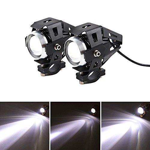 2 piezas Faros Delanteros de Motocicleta LED U5 de Focos Delanteros de...