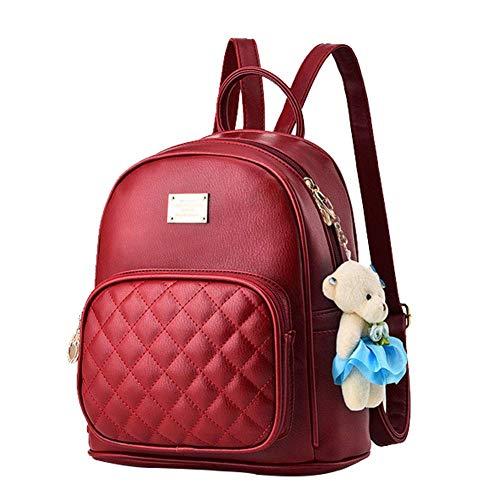 Damen luxuriös PU Leder Rucksack Schulrucksack schöne kleine Tasche neue Mode rund einzigartig Design Niet PU-Leder mit Nieten