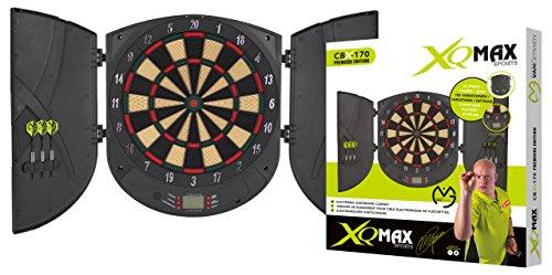 XQ-Max Erwachsene Michael Van Gerwen Elektronisches Dartboardset Cbx-170 Premiere Edition, Green, 1 size