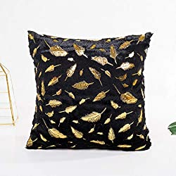 Luckycat Feder Bronzing Gold Foil Printing Kissenbezug Sofa Taille Wurf Kissenbezug Mode 2018