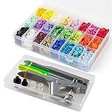 T5 Druckknöpfe mit SNAPS Zange, Cooleaf 360 Set T5 Druckknopf in 24 Farben für DIY Basteln (360 sets T5 Druckknöpfe +Snaps Zange)