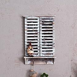 AN Retro old wood cafe bar creative wall hangings blackboard shutters false window message board wall decoration,A,35*10*52cm
