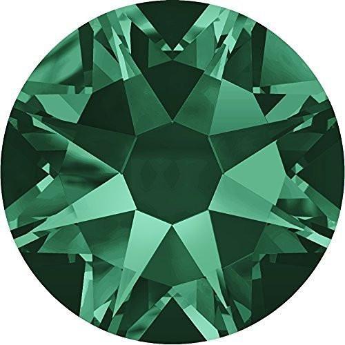 e39570cfb 2000, 2058 & 2088 Swarovski Flatback Crystals Non Hotfix Emerald   SS20  (4.7mm