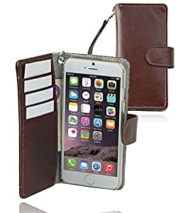 "monsoon MILAN Leather Wallet Case Cover for Apple iPhone 6 6s (4.7"") - [BROWN]"