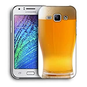 Snoogg Cold Beer Designer Protective Back Case Cover For Samsung Galaxy J1