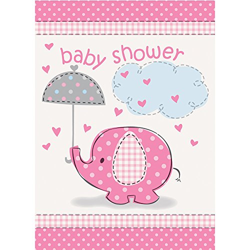(Pink Elefant Baby Dusche Einladungen, 8Stück)