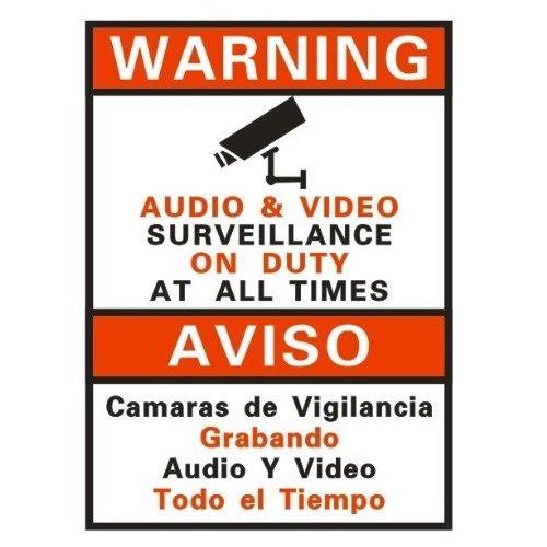 Usee Warnung Sicherheit Überwachung On Duty Sign Aufkleber für für CCTV Sicherheit Kamera Video Überwachungssystem (Sign Aufkleber)