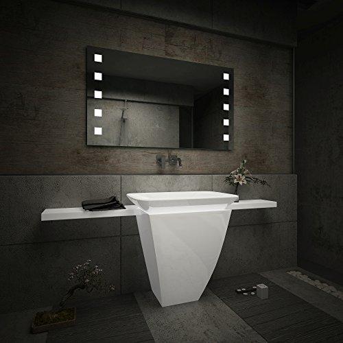 Design Badspiegel mit LED Beleuchtung Wandspiegel Badezimmerspiegel nach Maß - 4