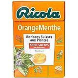 Ricola Bonbons Suisses aux Plantes Saveur Orange Menthe La Boîte de 50 g