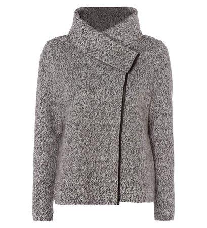 zero Damen Jersey Cardigan mit Schalkragen 306675 silver grey-m 44
