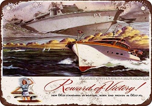 1945-elco-pt-y-yates-barcos-reproduccion-de-aspecto-vintage-metal-signs-12-x-16-pulgadas