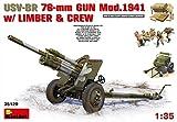 "Miniart 1: 35Escala ""usv-br Pistola de 76mm mod. 194con Limber y Crew–Kit de modelo de plástico de"" (Gris)"