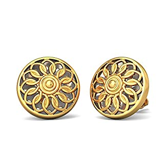 BlueStone 22k (916) Yellow Gold Saksham Stud Earrings