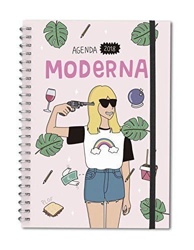 Moderna de Pueblo. Agenda anual pequeña 2018 (Agenda anual bolsillo)