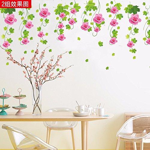 ensticker Wohnzimmer weniger den Hintergrund Dekoration Aufkleber Klassenzimmer mit grünen Etiketten Abnehmbare 84 * 54 cm (Fallen Klassenzimmer Dekorationen)
