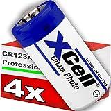 4er Pack CR123 / CR123A Lithium Hochleistungs- Batterie für professionelle Anwendungen - Neueste Generation