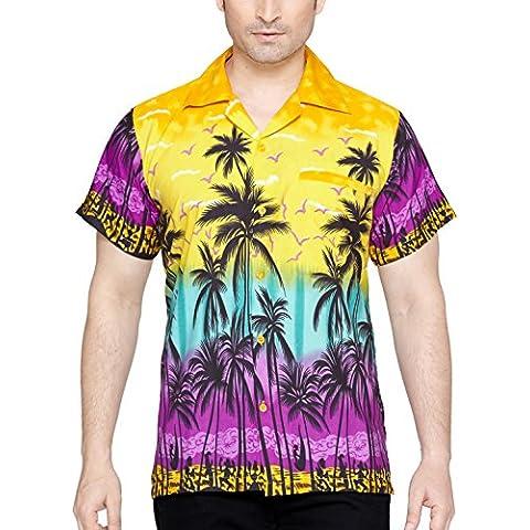 SWEET NECTAR Camisa hawaiana florar casual manga corta ajustado para hombre