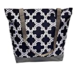Best Beach Bags For Moms - Best Lined Black Gray Quatrefoil Beach Boat Utility Review