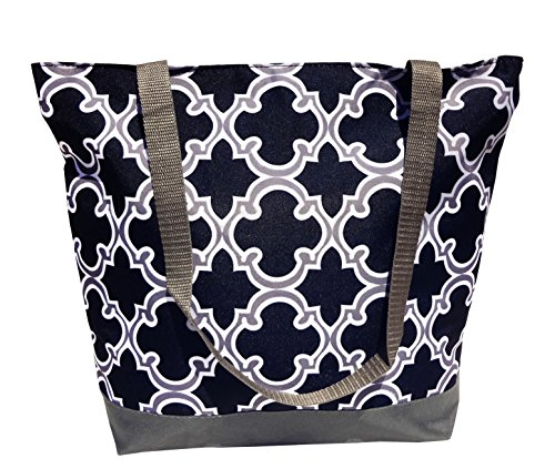 travelnut-reusable-grocery-shopping-bags-gray-black-quatrefoil-design-top-new-best-fall-back-to-scho